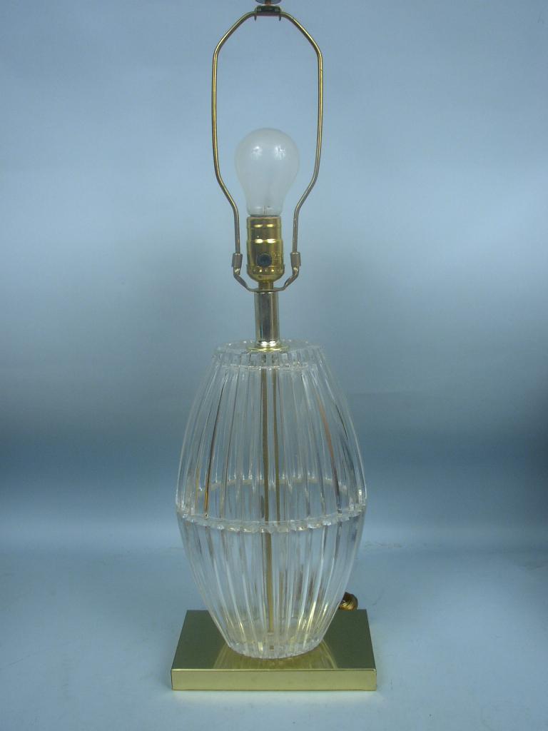 Lead crystal table lamp - Lancaster Pa 17602 24 Lead Crystal Table Lamp By Dresden Crystal
