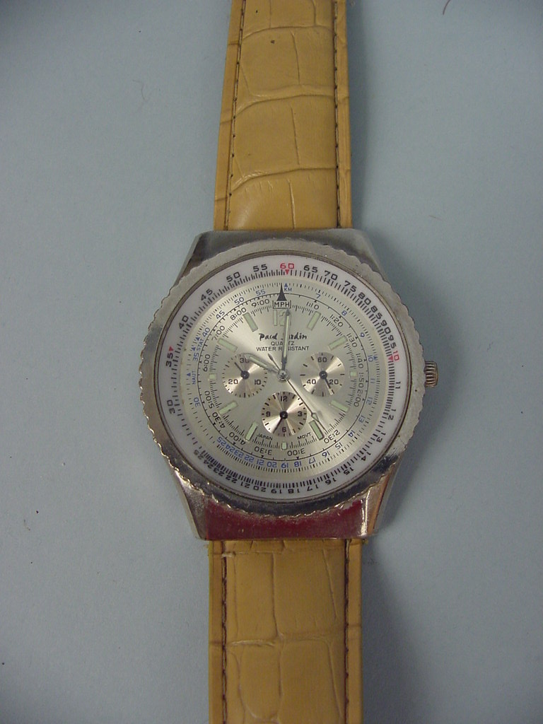 Man 39 s paul jardin chronograph watch working ebay for Paul jardin quartz watch