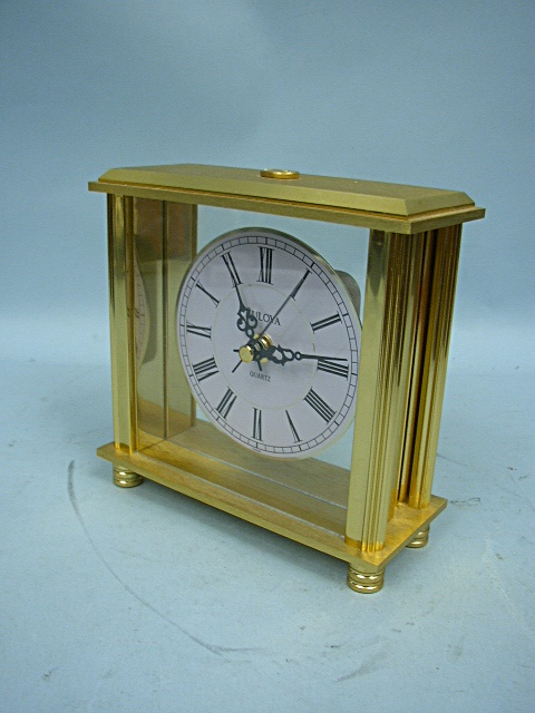 Bulova Brass Carriage Clock With Quartz Movement ...