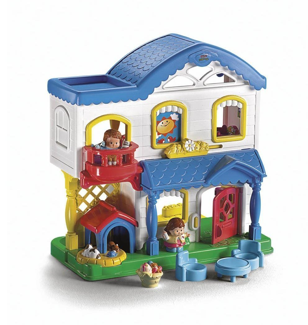 fisher price little people busy day home l4200 no. Black Bedroom Furniture Sets. Home Design Ideas