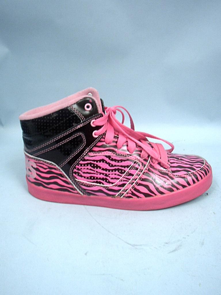 osiris pink black zebra print skate shoe