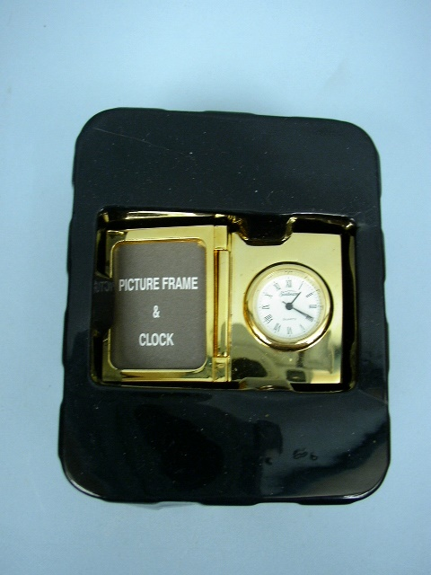 Miniature Quartz Clock With Picture Frame By Sunbeam Ebay